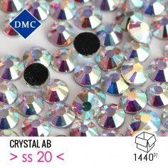 Strass DMC Termoadesivo ss 20 Crystal AB - Pacco 1440PZ Rhinestones Hotfix