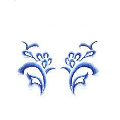 Applicazione in Tessuto ricamato Sapphire cm 24x12.5 - 1PA