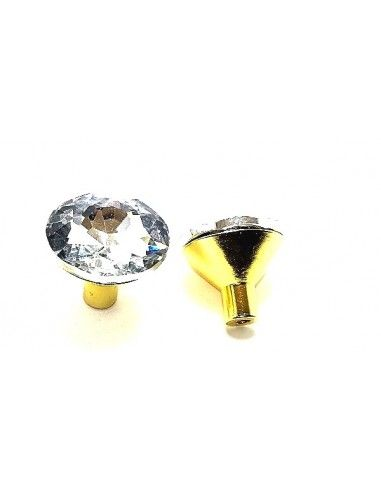 Knobs with Strass 30 mm Crystal /...