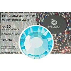 Strass Preciosa Termoadesivo ss 20 Aqua Bohemica - 1440 pz Rhinestones Hotfix