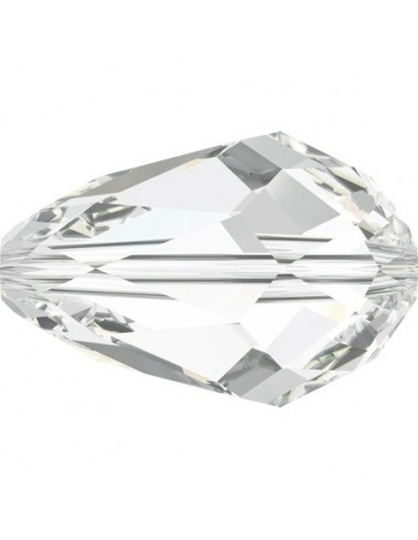 Beads a forma di Goccia Swarovski in cristallo da 9x6 mm, crystal.
