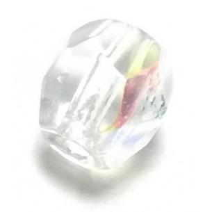 Beads a forma di Sfera  in cristallo da 4 mm,  aurora boreale.