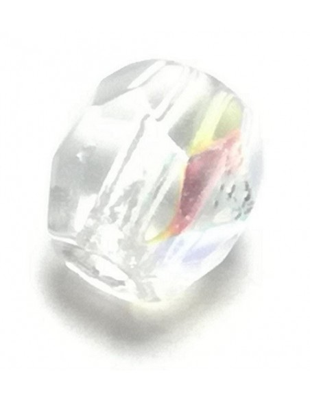 Beads in the shape of a sphere 4 mm crystal, aurora borealis.