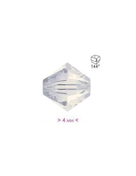 Bicono in Cristallo mm 4 White Opal - 144PZ