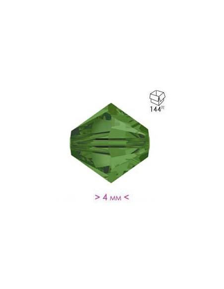 Bicono in Cristallo mm 4 Medium Emerald - 144PZ