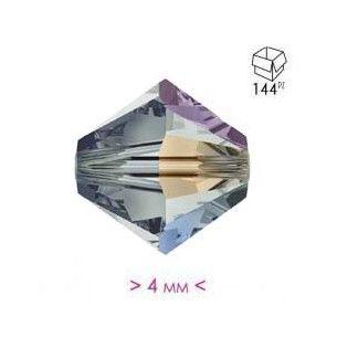 Bicono in Cristallo mm 4 Bl. Diamond AB - 144 PZ