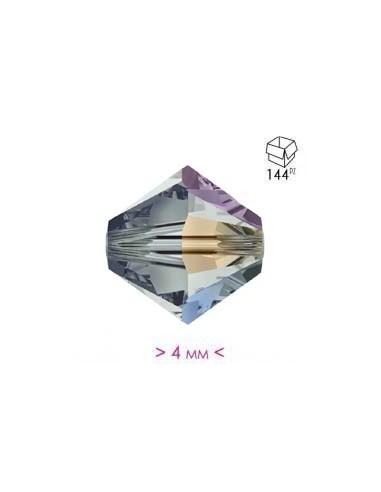 Bicone Bl. Diamond AB 4 mm - 144 pcs