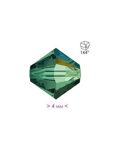 Bicono in Cristallo mm 4 Emerald AB - 144PZ