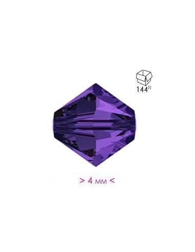 Bicono in Cristallo mm 4 Deep Violet - 144PZ