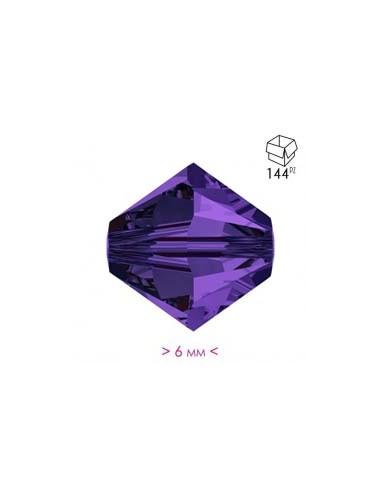 Bicone Deep Violet 6 mm - Pack 144 pcs