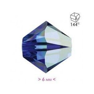Dark Aqua Crystal Bicone AB...