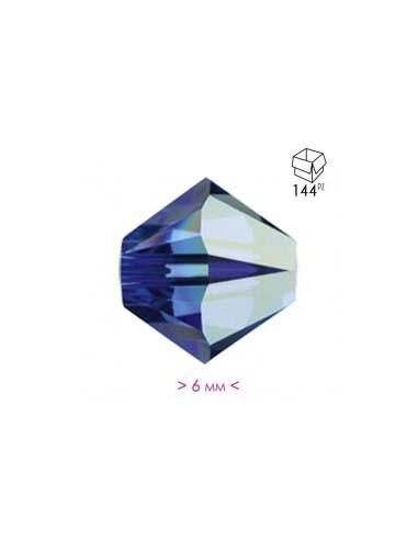 Dark Aqua Crystal Bicone AB - 144Pcs