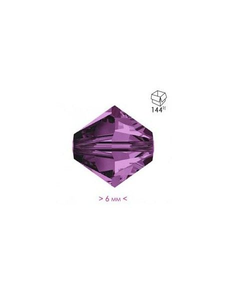 Bicono in Cristallo mm 6 Amethyst - 144PZ