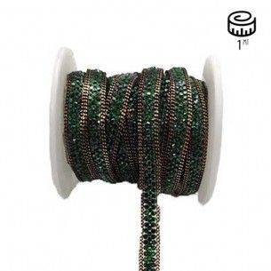 Bordura Strass Gioiello Termoadesiva mm 8 Emerald- 1M