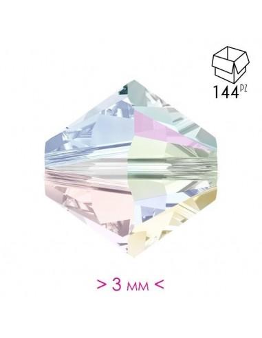 Bicono in Cristallo mm 3 Crystal AB - 144PZ