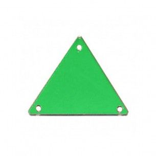 Sew on Mirrors Triangle 23 mm Green