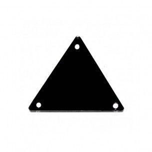 Specchietto da cucire  in acrilico Triangolo mm 23 Nero