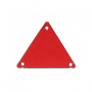 Sew on Mirrors Triangle 23 mm Red