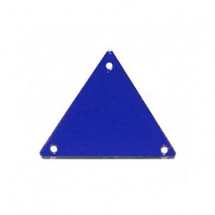Sew on Mirrors Triangle 23 mm Blue