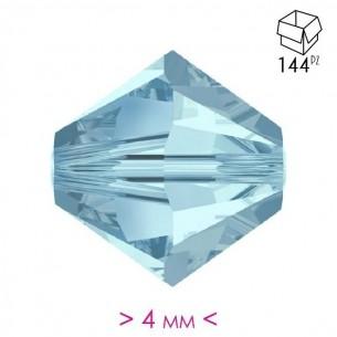 Bicone Aqua 4 mm- 144Pcs