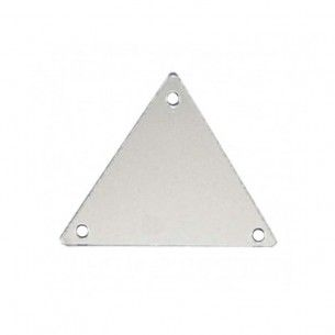 Sew on Mirrors Triangle 30 mm Silver