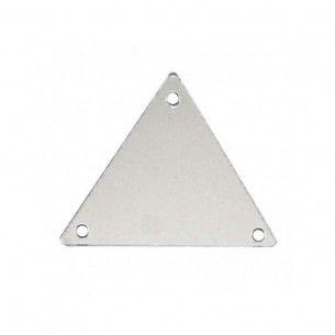 Specchietto da cucire  in acrilico Triangolo mm 23 argento