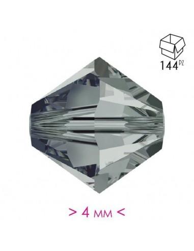 Bicone  Bl. Diamond 4 mm- 144 pcs