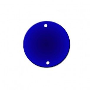 Sew on Mirrors round 23 mm blue