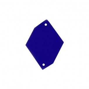 Sew on Mirrors Rhombus with six sides  24x34 mm Blue