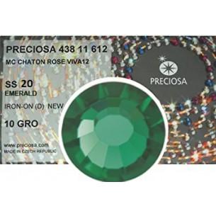 Strass Preciosa Termoadesivo ss 20  Emerald- 1440 pz Rhinestones Hotfix