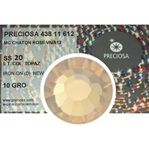 Preciosa Rhinestones Light  Colorado Topaz Strass Hotfix ss 20 - pack 1440 pcs