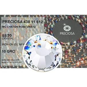 Strass Preciosa Termoadesivo ss 20  Crystal - 1440 pz Rhinestones Hotfix