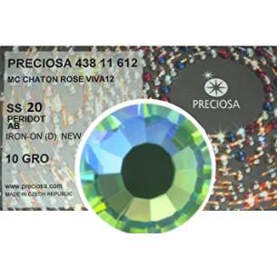 Strass Preciosa Termoadesivo ss 20  Peridot AB - 1440 pz Rhinestones Hotfix