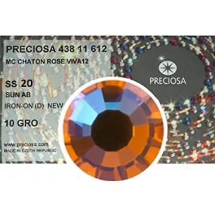 Strass Preciosa Termoadesivo ss 20  sun AB - 1440 pz Rhinestones Hotfix