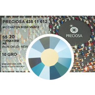 Preciosa Rhinestones Strass Hotfix ss 20 Turquoise  AB - pack 1440 pcs