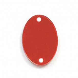Sew on Mirrors Oval Red 20x30 mm
