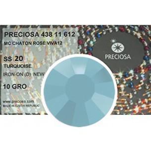 Strass Preciosa Termoadesivo ss 20  turquoise- 1440 pz Rhinestones Hotfix
