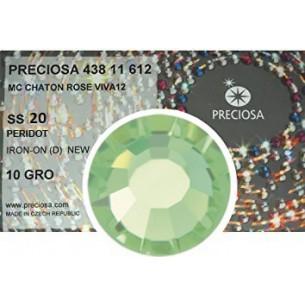 Strass Preciosa Termoadesivo ss 20  Peridot hotfix  rhinestones pack 1440 pcs