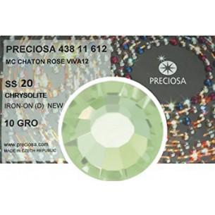 Strass Preciosa Termoadesivo ss 20  Chrysolite- 1440 pz Rhinestones Hotfix