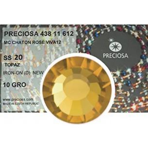 Strass Preciosa Termoadesivo ss 20  Topaz - 1440 pz Rhinestones Hotfix