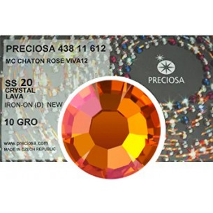 Preciosa Rhinestones  Strass Hotfix ss 20  Crystal  Lava - pack 1440 pcs