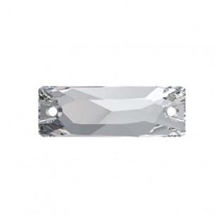 Pietra da cucire Baguette mm 18x6 Crystal