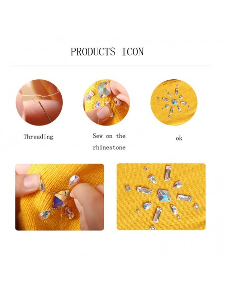 Sew on  stones application