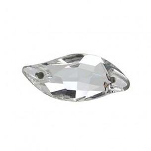 Pietra da cucire Curve mm 30x14 Crystal