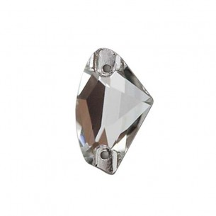 Pietra da cucire Galactic mm 19x12 Crystal