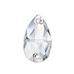 Pietra da cucire Goccia mm 12x7 Crystal