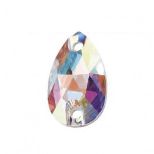 Pietra da cucire Goccia mm 28x17 Crystal AB