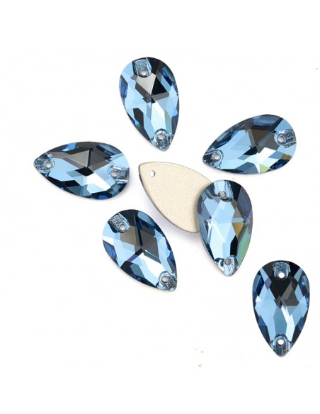 Pack Stone Drop mm 28x17 Aquamarine