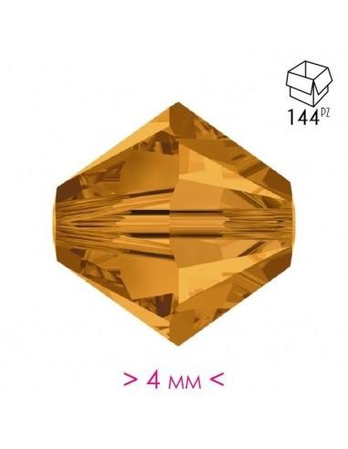 Bicono in Cristallo mm 4 Topaz - 144PZ