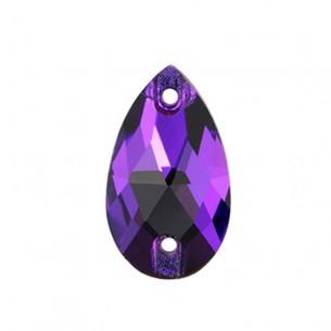 Pietra da cucire Goccia mm 18x10,5 Purple Velvet
